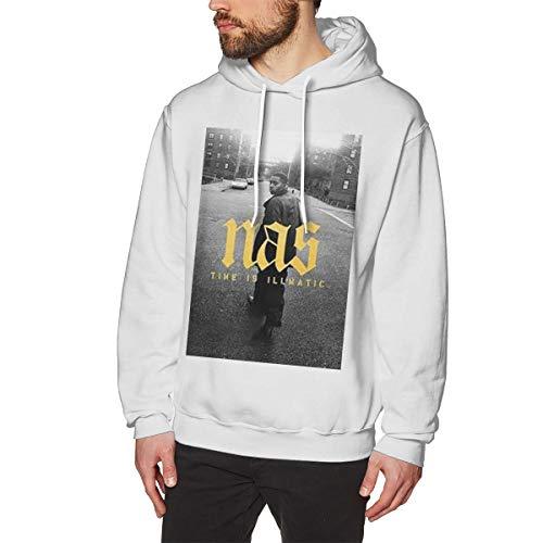 Pacodpin Männer Watch NAS Time is Illmatic Online Sweater XXL White Herren Hoodie Sweatshirt