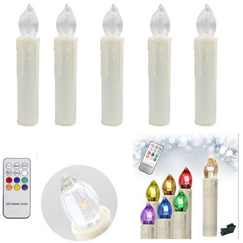 HENGDA® nervigen sin enredos LED Velas de Navidad Agua Densidad velas Luz Cadena para Navidad (con mando a distancia inalámbrico, 50unidades)