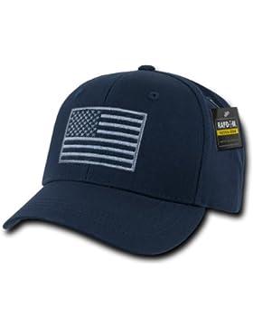 RapDom táctico Estados Unidos bordado operador Cap, hombre, azul marino