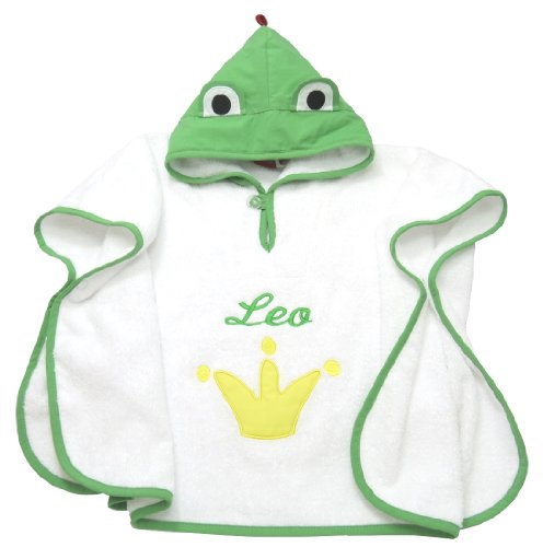Poncho Froschkönig mit Ihrem Wunsch Namen bestickt Smithy F102056