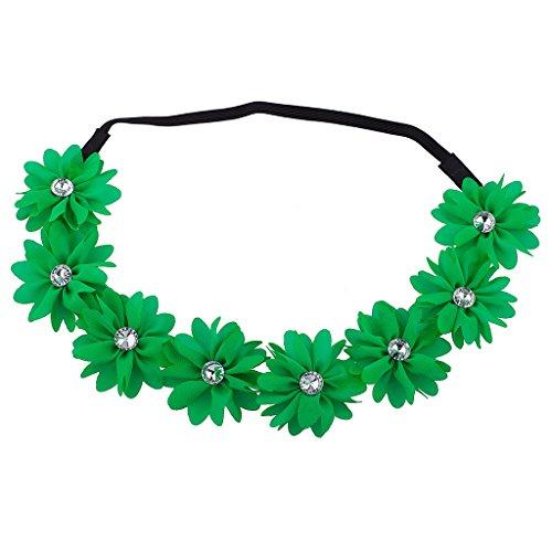 lux-zubehor-grun-blume-haarband-chiffon-floral