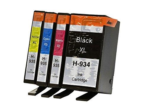 Preisvergleich Produktbild OBV Sparset 4x kompatible Tintenpatrone ersetzt HP Nr. 934XL / 935XL / X4E14AE schwarz, cyan, magenta, gelb für HP OfficeJet 6812 6815 6820 6822 6825 / / HP OfficeJet Pro 6230 6235 6239 6830 6835