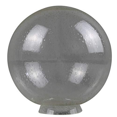 Doppelpack - 2 Kugel Blasenglas Ersatzglas Lampenschirm Glas f.Außenleuchten Ø200mm mit Kragenrand Ø80mm