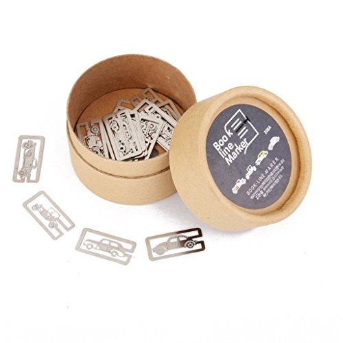 ubehör 20 Stück 4 Stile Metall Lesezeichen Souvenirs Party Favors Papierklammern Page Marker Index Trennblätter (Box), Autos ()