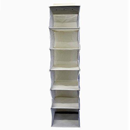 + Rebecca Srl Organizzatore Portatutto 6 Scompartimenti Beige Grigio Tessuto Resistente Armadio Camera da Letto (Cod. RE4735) recensioni dei consumatori