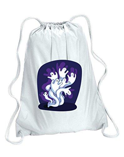 Design di Halloween gruppo di fantasmi Palestra Borsa, donna, White,