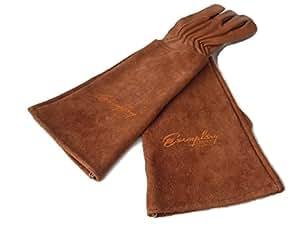 gants de jardinage pour les hommes et les femmes ch vre gants de jardin en cuir avec une longue. Black Bedroom Furniture Sets. Home Design Ideas