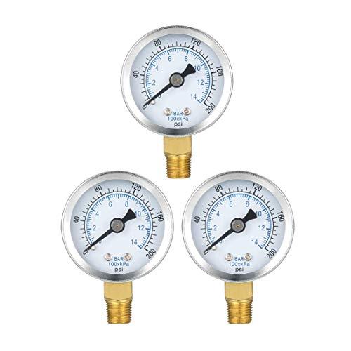ZCHXD Bottom Mount Pressure Gauge, 0-200 psi/kpa Dual Scale, 1-25/64