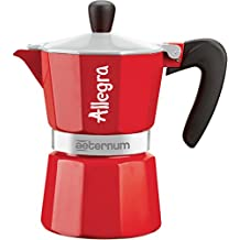 Bialetti 6011 Cafetière italienne Allegra pour 1 Tasse Rouge