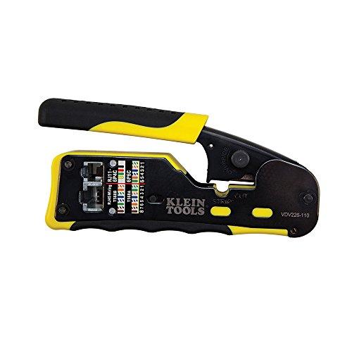 Pass Thru Kabel (Klein Tools VDV226-110 Durchgangs-Crimpzange, gelb/schwarz, 1 Stück)