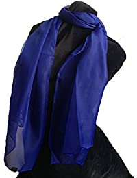 Plain royal blue chiffon style scarf thin pretty scarf great for any outfit lovely gift
