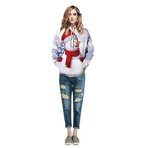 Von Tasche Kostüm M&ms - Fancyart Schneemann-Weihnachtspaar-Strickjacke-Polyester 3D Druckte Kleidung, Cosplay-Stadiums-KostüM-Show-Geburtstagsgeschenk-Leichten Pullover-Strickjacke Hoodie,Ms,M