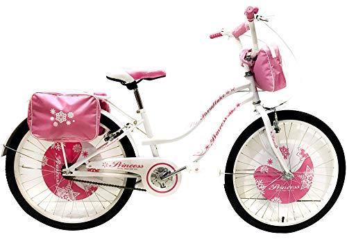 Reset Bicicletta per Ragazza 24' Princess Bianca
