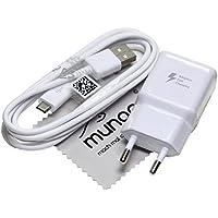 Chargeur Flash rapide pour d'origine Samsung 2A + 1,5 m câble de charge de données USB pour Samsung Galaxy S7 Edge (G935F) avec chiffon de nettoyage mungoo