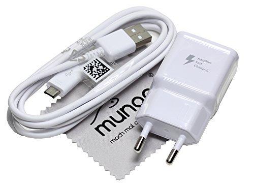 Original BLITZ Schnell Samsung 2A Ladegerät Daten Ladekabel USB für Samsung Galaxy Tab 4 10.1 SM-T530 2.0 USB Datenkabel Netzteil Schnellladegerät + Gratis mungoo® Displayputztuch