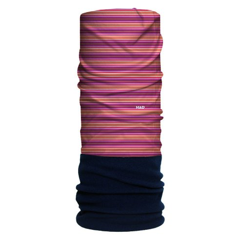 H.A.D. Originals Écharpe Woodstock Multicolore - Stripe Red Orange Fleece/Darkblue Kf