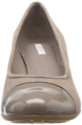 Geox D Venere, Chaussures de ville femme Marron (Taupe)