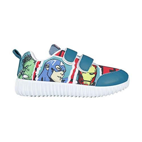 Marvel Avengers Jungen Leichte Sohle Sneakers Turnschuhe Schuhe   Fantastische Jungenschuhe   Unglaubliches Design   Hulk   Captain America   Iron Man   Thor   EU 27  