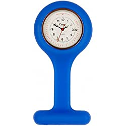 Royal Blue Gel Silicone Nurse Fob Watch Base 30 Pulsations & Washable for Infection Control Paramedic Doctor Unisex