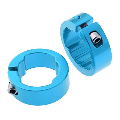 B Blesiya 2er Set Aluminium Fahrrad Sattelstütze Sattel-klemme Sattel-schelle Klemmring - Blau 12mm - Klemme Blau Sattelstütze