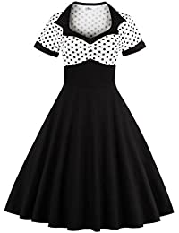 Dissa M1353 DamenRockabilly 50er Vintage Retro Kleid Partykleider Cocktailkleider