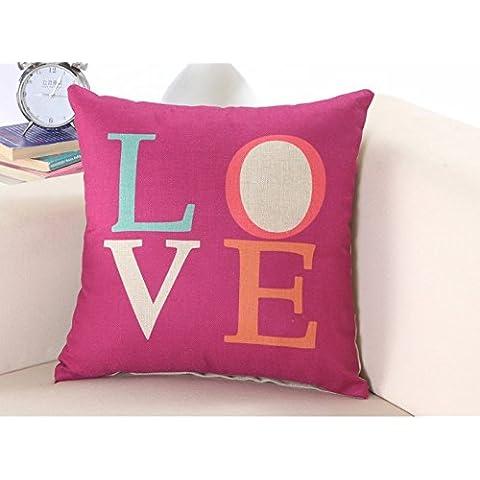 Yifom Creative semplice divano letto cuscino cuscino la stampa a colori dei (Deer Coperta Del Tiro)