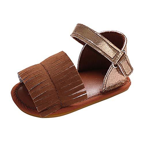 BURFLY weibliche Baby quaste einfarbig Schnalle Kleinkind Schuhe Strand Schuhe Sandalen Casual Schuhe Sportschuhe ()