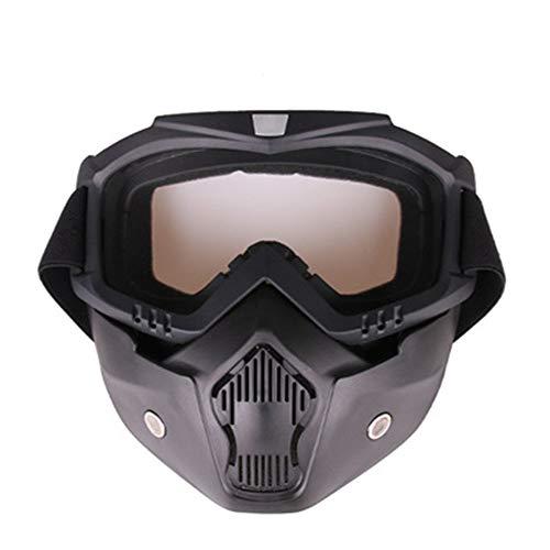 YHL Motocross-Brille Motorrad-Maske Mit Brille Mit Winddichtem Sand Anti-Friction Abnehmbar Für Das Fahren Im Freien,B -