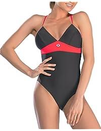 Gwinner Badeanzug Sportbadeanzug Schwimmanzug Bademode Damen einteilig sehr bequem und elastisch, mit weichen, herausnehmbaren Körbchen, aus hochwertigem Material made in EU Rosanna