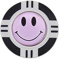 Magnético de Poker Chip y lilas cara sonriente Bola marcador por Mercia golf.