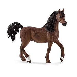 Schleich- Figura de Caballo, Semental Árabe, Color Marrón, 10,4cm