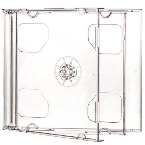 Four Square Media 100 x CD DVD Double Jewel Cases 10,4 mm für 2 CDs transparent Inh, 100-
