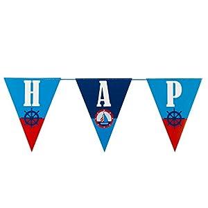 """Neviti Ahoy - Guirnalda de banderines""""Happy Birthday"""""""