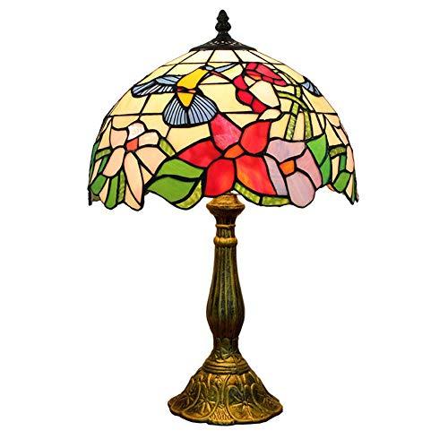 XHJZ-H Tiffany-Art-Tischlampen, 12-Zoll-kreative Retro Schlafzimmer-Wohnzimmer-Tischlampe, Buntglas-Hotel-Schreibtischlampen