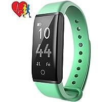 Mpow Fitness Tracker IP67, Orologio Bluetooth Fitness Cardio Pedometro Contapassi e Calorie Orologio Fitness Cardiofrequenzimetro Orologio da Polso Contapassi per Uomo Donna per Android e iOS, Verde