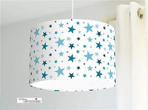 Kinderzimmerlampe mit Sternen in Blau für Babys Babyzimmer und Jungs - andere Farben möglich
