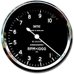Smiths Mauspad, Motiv Motorrad-Drehzahlmesser, rund