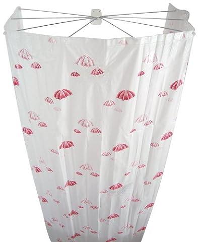 Ridder 158212 Duschspinne, Duschschirm, Ombrella, april rose