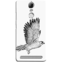Printfidaa Lenovo K5 Note, Lenovo Vibe K5 Note Pro Back Cover Flying White Bird Printed Designer Back Case