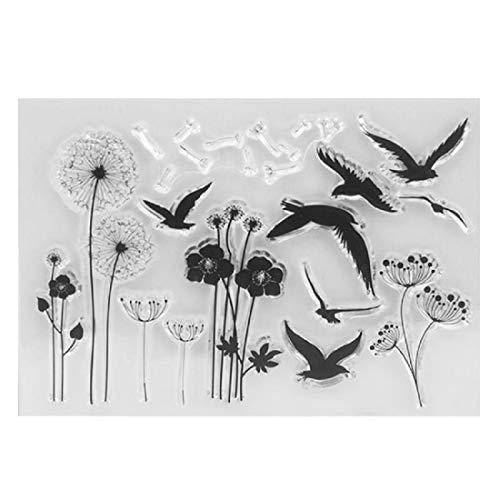 DIY Blumen Vögel Silikon Clear Stempel Scrapbooking Fotoalbum Karten Papier Craft Decor Transparent Stempel (Clear-stempel Cookie)