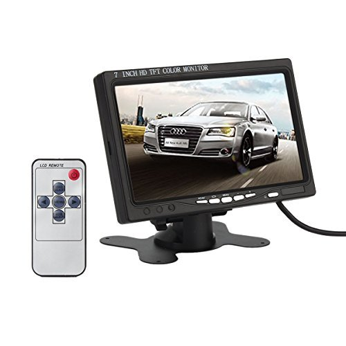 ATian 7 Inch High Resolution 800*480 support 1024*768 tft LCD Screen Display Monitor with Hdmi VGA Input DVD VCR Car Rearview Headrest Monitor +Remote +Ac Charger  available at amazon for Rs.9799