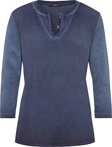 Brax Damen Langarmshirt 37-4407 Blau (Navy 22)