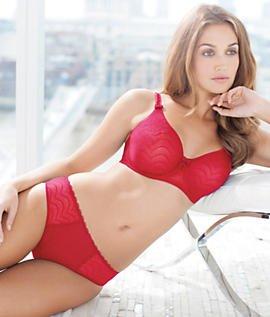 Echo Lace Reggiseno Modellante - Moulded UW Bra Fantasie Red