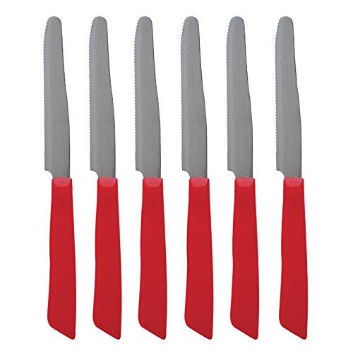 Excelsa Lot de 6 Couteaux-Rouge