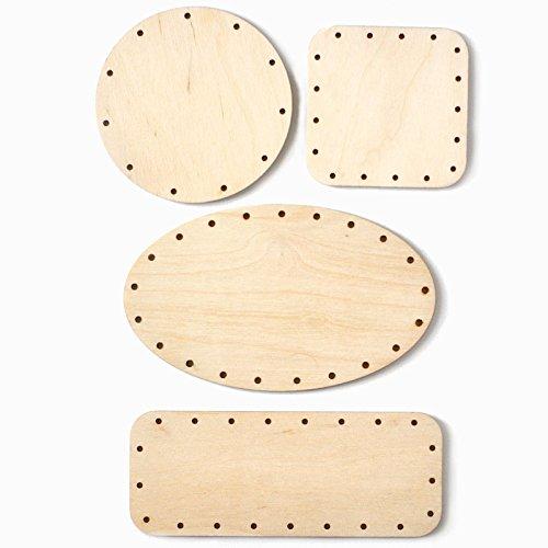 Korbboden Set gemischt, klein für Peddigrohr 3mm - Flechten, Korbflechten, Schilf Set, Peddigrohr, Flechtmaterial, Flechtset, Rattan