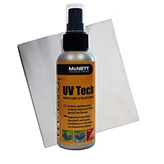 McNett UV Tech 120ml Kunststoff, Synthetik Gummi Schutz Pflegetuch - Schutz für Öberflächen vor Sonnenlicht UV Einstrahlung Ausbleichen für KfZ Auto Motorrad Kanu Kajak Boot Surf Board