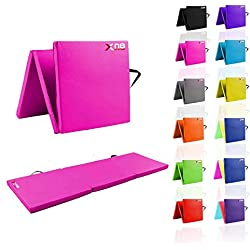 Plegable en 3, de Xn8 Sports. Espuma resistente grosor de 6 cm, color rosa