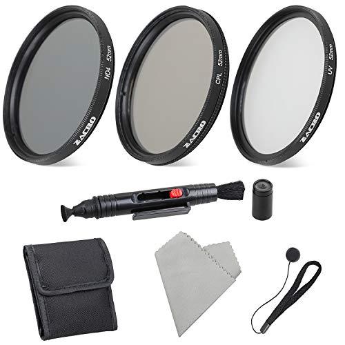 Zacro Kit di filtri fotografici da 52 per fotocamera DSLR penna per obiettivo custodia per filtro panno microfibra incluso