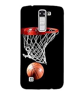 FUSON Basket Ball 3D Hard Polycarbonate Designer Back Case Cover for LG K10 :: LG K10 Dual SIM :: LG K10 K420N K430DS K430DSF K430DSY