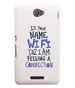 KolorEdge Back Cover For Sony Xperia E4 - White (5602-Ke15124XperiaE4White3D)